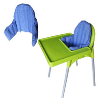 Baby Booster Seats Soft Cushion Children Chair Inflate Liner Design Pad Blue Striped Highchair Pad Baby