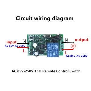 Image 2 - QIACHIP 433 Mhz evrensel kablosuz uzaktan kumanda anahtarı AC 85V 110V 220V 1CH röle alıcı modülü ve RF 433 Mhz uzaktan kumanda