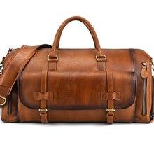 Bag Travel-Bag Luufan Handbag Large-Capacity Men's Retro Rub-Color