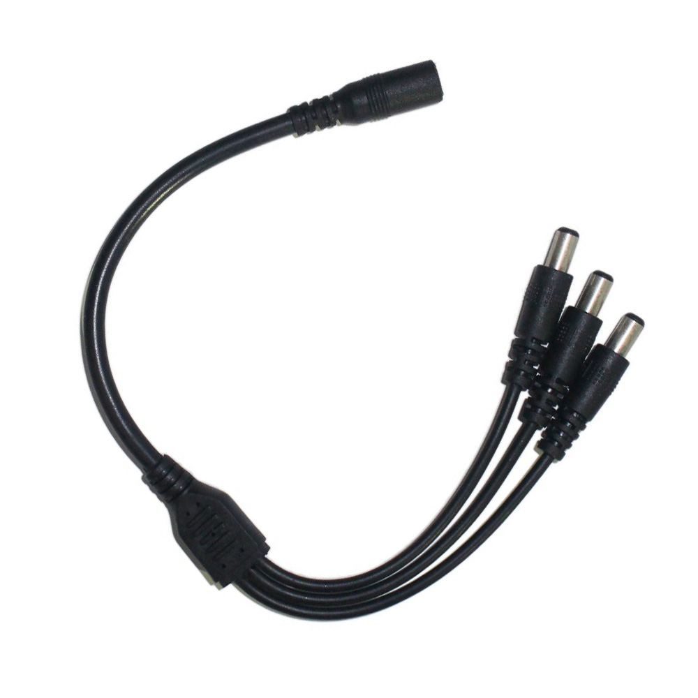 1pcs DC Power Jack 1 DC female to 3 male plug Splitter Adapter Connector Cable wire LED DC Connector for CCTV Camera LED Strip