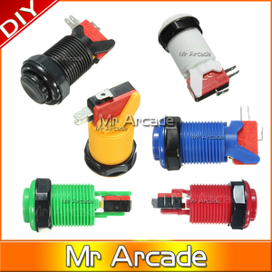 Free Shipping Good touch feeling Arcade Button with Durable microswitch for arcade game machine and MAME controller