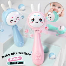 Muti-function Baby Bunny Rattles & Teether Kids Tumbler Doll Baby Toys Bell Music Learning Education Toys Gifts Baby Toys