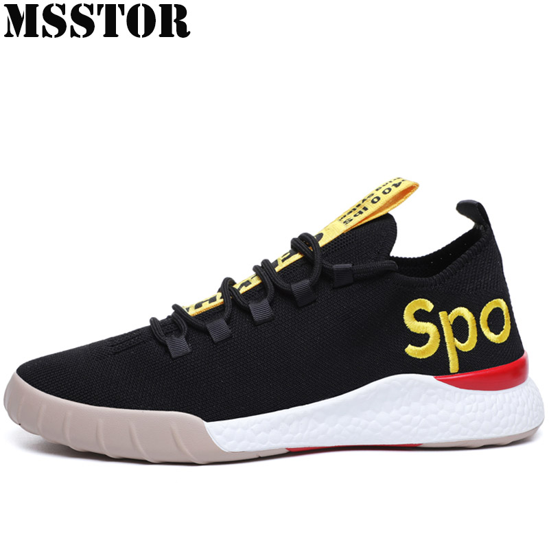 MSSTOR Mens Running Shoes Man Brand Summer Breathable Mesh Sport Shoes For Men Outdoor Athletic Male Run Walking Mens Sneakers