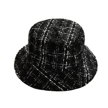Vintage Plaid Bucket Hats for Women Outdoor Sports Hip Hop Cap Fishing Hat Panama Warm Autume Winter Flat Caps