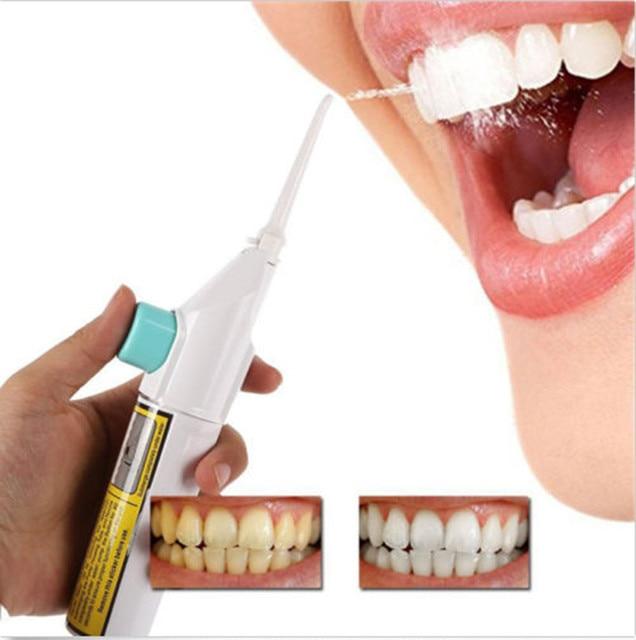 Portátil de hilo Dental de chorro de agua cuerdas diente recoger soportes baterías 30