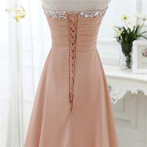 Image 5 - vestido de festa vestido longo 2020 Open Leg Lace up Sweetheart Neck Beading Crystal Formal Long Chiffon Evening Dresses OL4311