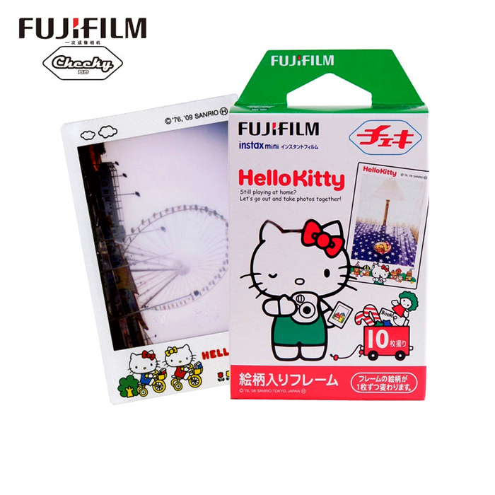 Original Fujifilm Hello Kitty Instax Mini 8 9 film (10 sheets) for Polariod mini Camera Instant mini 7s 25 50s 90 300 Share SP-1