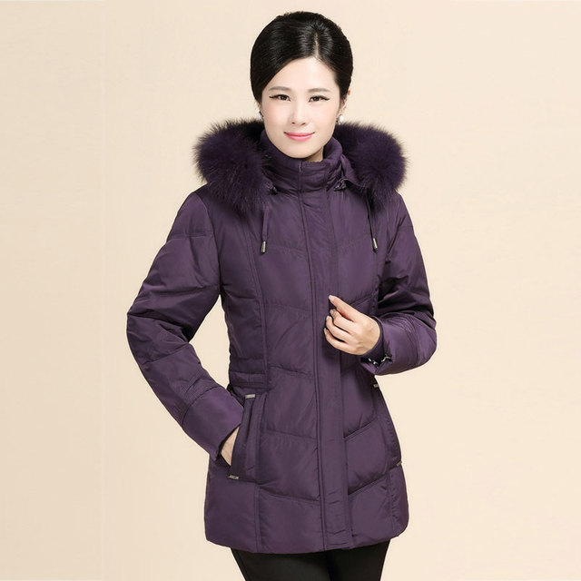 White Duck Down Women's Winter Jacket Casual Fashion Women Parka High-Quality Female Hooded Coat Parka Down Jacket Plus Size
