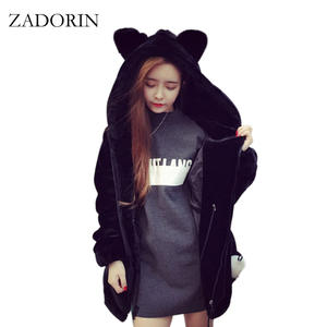 104edb1f994 top 10 most popular faux fur hooded coat with ears black brands