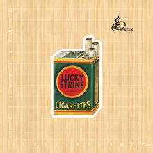 Lucky strike cigarettes Notebook skateboard Ipad trolley backpack Tables book decal PVC Car sticker Colorful(China)