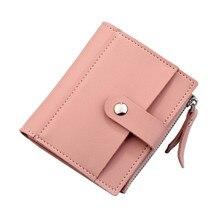 Купить с кэшбэком Fashion Women Wallets Short Multi-card Holder Purse PU Leather Zipper Top Quality Coin Pocket Money Bag For Girl Wallet New