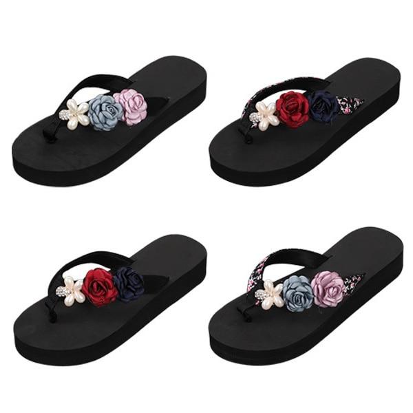 Summer Women Flip-Flop Sandal Flowers Lady Beach Casual Shoes Girl Thong Flip Flop MSJ99Summer Women Flip-Flop Sandal Flowers Lady Beach Casual Shoes Girl Thong Flip Flop MSJ99