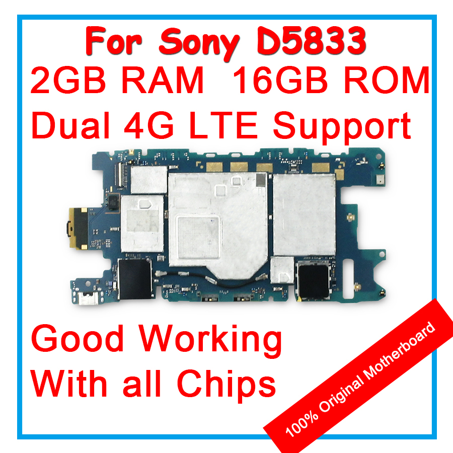 US $33 55 |For Sony Xperia Z3 MINI Z3mini D5833 D5803 100% Unlock Original  Motherboard 32GB Mainboard Android OS Logic board With All Chips-in Mobile
