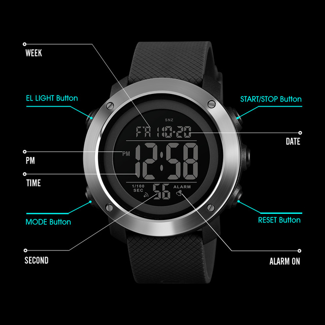 SKMEI Top Luxury Sports Watches Men Waterproof LED Digital Watch Fashion Casual Men's Wristwatches Clock Relogio Masculino