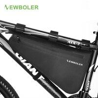 Newboler saco de bicicleta à prova chuva grande capacidade mtb quadro estrada saco triângulo bolsa à prova dwaterproof água calafetagem pannier acessórios|Cestos e bolsas p/ bicicleta| |  -