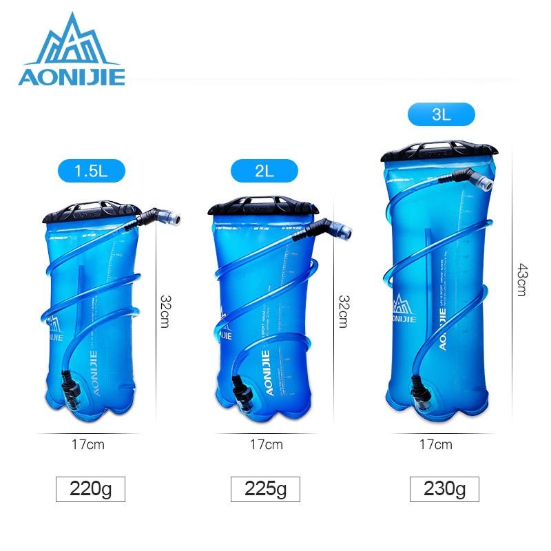 AONIJIE SD12 1L//1.5L//2L//3L Foldable Hydration Bladder Water Bag For Sport