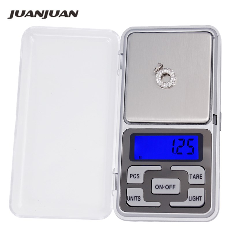 0.01g 500g 500g Mini LCD Digital Balance Digital با جعبه خرده فروشی مقیاس وزن قابل حمل جواهرات 21٪ تخفیف