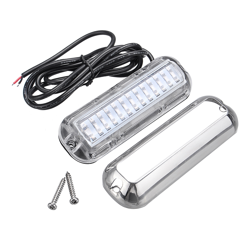 Image 2 - 39 LED 5.2 W Underwater Pontoon Boat Transom Light 12V White Blue Marine Boat Yacht Light 316SS Cover Waterproof-in Marine Hardware from Automobiles & Motorcycles