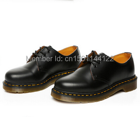 Free Shipping Dr Martins 1461 SMOOTH Women  Men s Genuine Leather Shoes  Ankle Martens Autumn Boots Shoes 235b5143e706