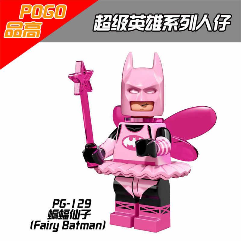 Superhéroes Batman película modelo legoedly figuras acción Juguetes de bloques de construcción para los niños superhéroes