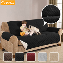 Petshy Pet Sofa Cover Dog Bed Furniture Protector With Elastic Strap Waterproof Mats 1/2/3 Seat