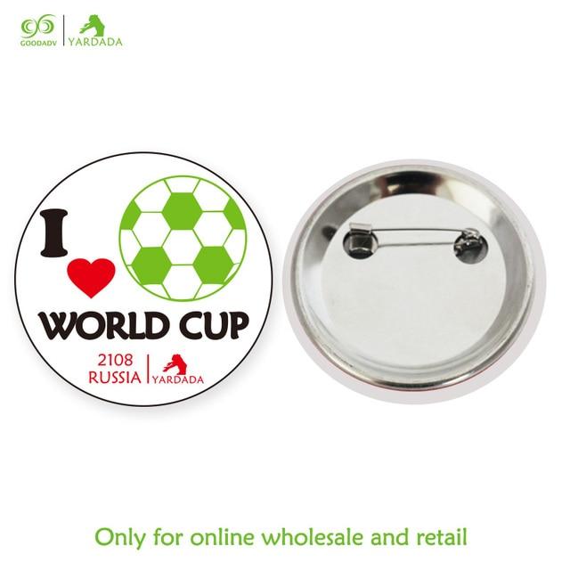 1b0430085e2 1pc football design soccer fans accessories bag pin badge flap collar scarf  needle brush
