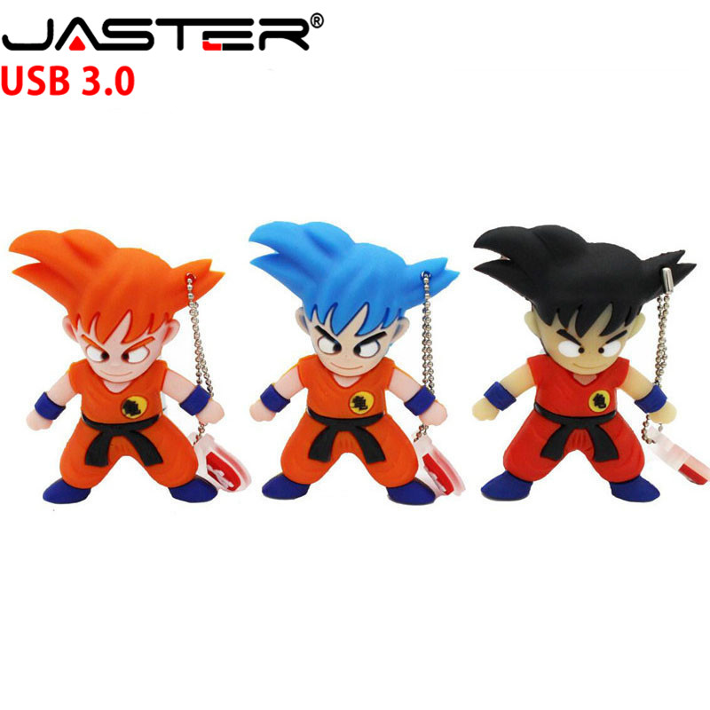 JASTER Goku Model Pendrive 4GB 64GB 16GB 32GB Cartoon Dragon Ball Usb Flash Drive Usb 3.0 Cute U Disk Keychain Memory Stick Gift