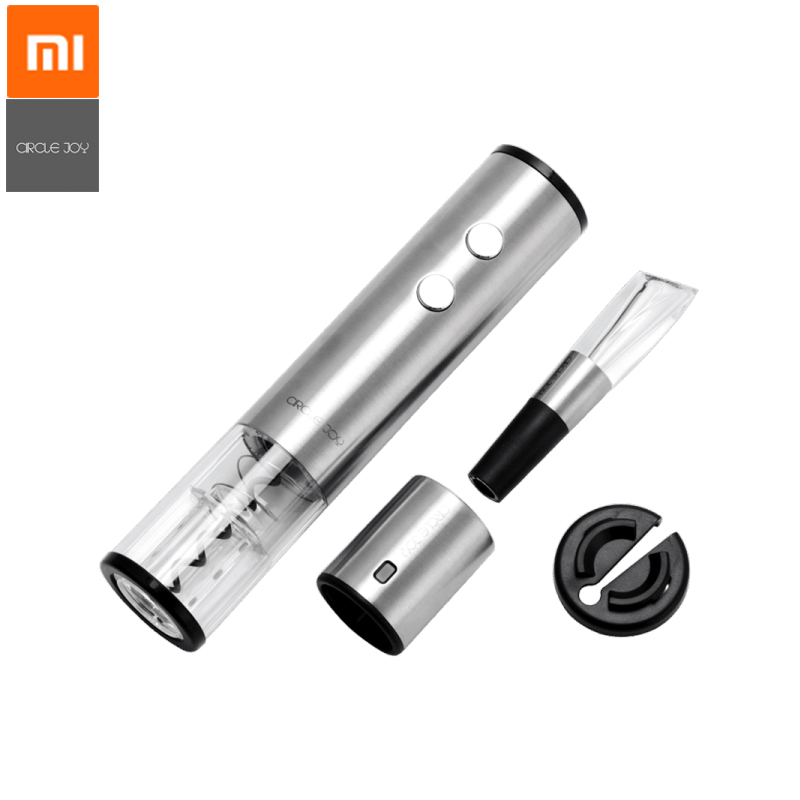 Xiaomi Mijia Circle Joy Electric Bottle Opener Stainless Steel Mini Wine Stopper Wine Decanter Aerator for