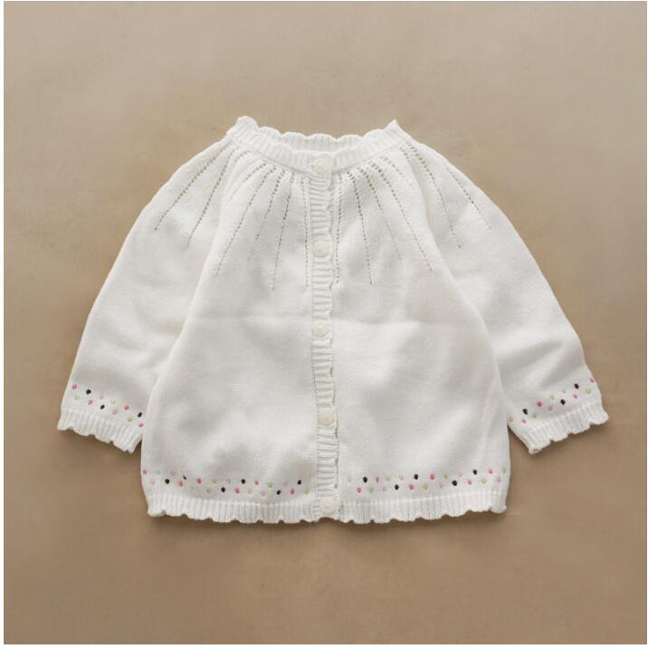 1846345 Spirng Baby Sweater Girls Cardigan White Girls Sweater Baby Cardigan Girls Clothes Girls Sweater Children Clothing sweater baby blumarine sweater