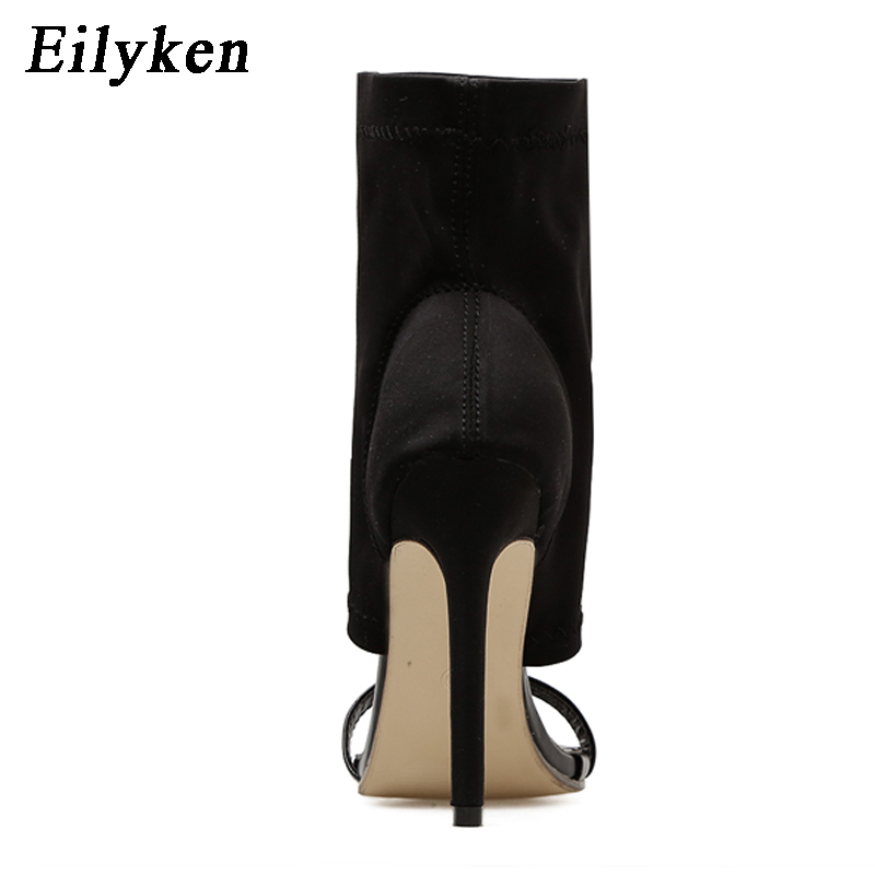 Chaussures 35 40 Black Eilyken Toe Talons Gladiateur Évider Peep Femmes 2018 Sexy Taille Sandales Nouvelles Bottine qnxwBqOUz6