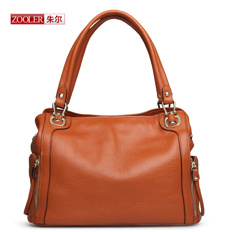 6ba6d7d299 ZOOLER 2017 limited Genuine leather woman handbag 4 colour option luxury  brand shoulder ladies design with silt pockets3SY 2615-in Top-Handle Bags  from ...