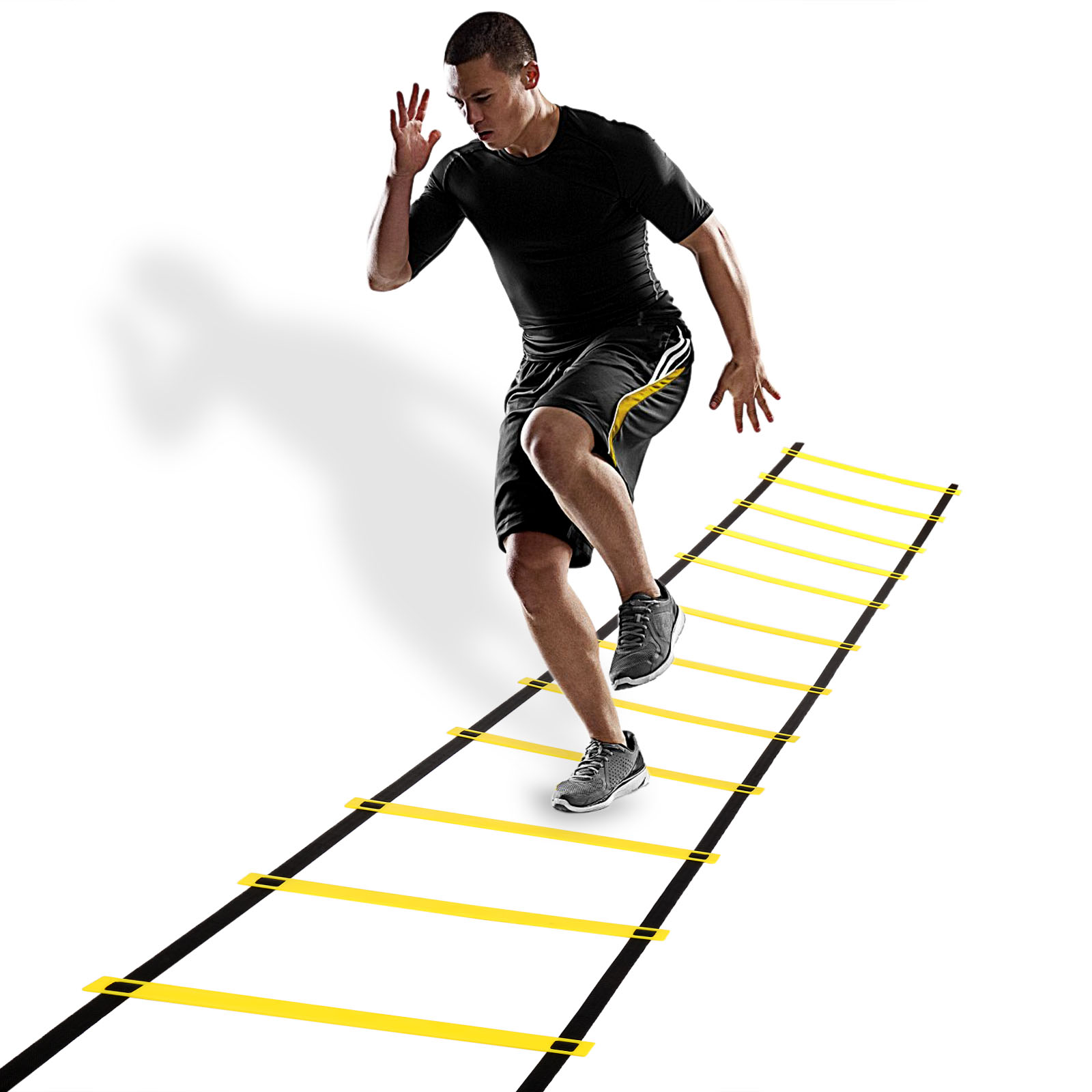 12 Rungs Speed Agility Ladder Soccer Football Sports Training Exercise Equipment