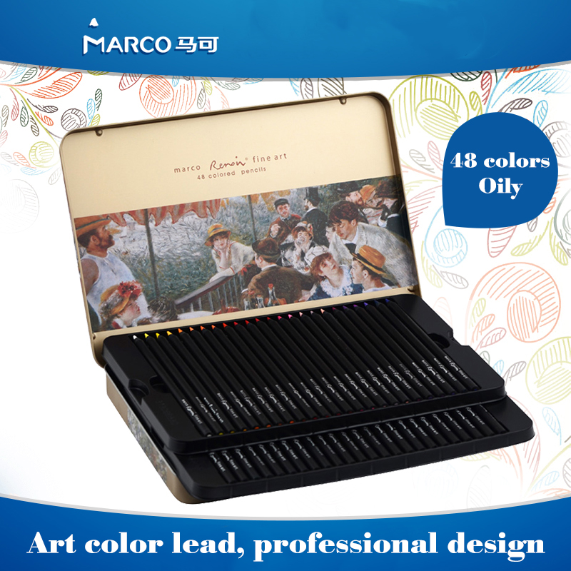 ФОТО Marco Pen Watercolor Pencils Artist Professional Painting Sketch Pencil Lovely Stationery Creative School Supplies Birthday Gift