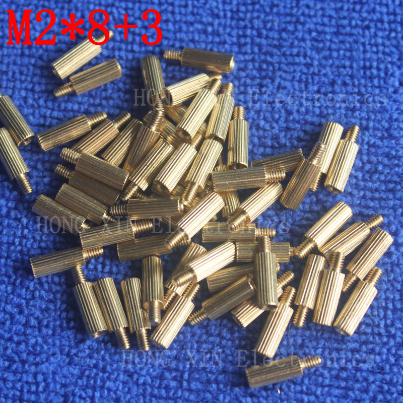 M2*8+3 1Pcs brass Standoff 8mm Spacer Standard Male-Female brass standoffs Metric Thread Column High Quality 1 piece sale m2 4 3 1pcs brass standoff 4mm spacer standard male female brass standoffs metric thread column high quality 1 piece sale