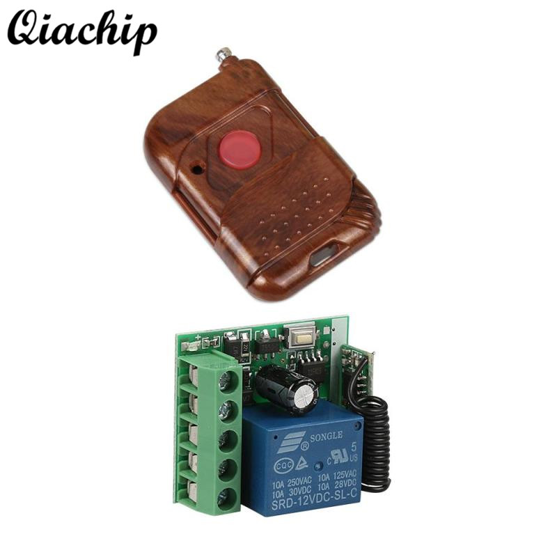 Universal Remote Control Switch 433mhz DC 12V 1CH RF Relay Receiver Module and 433 Mhz RF Transmitter Wireless Remote Controls dc 12v 1ch 433 mhz universal wireless remote control switch rf relay receiver module and transmitter electronic lock control diy