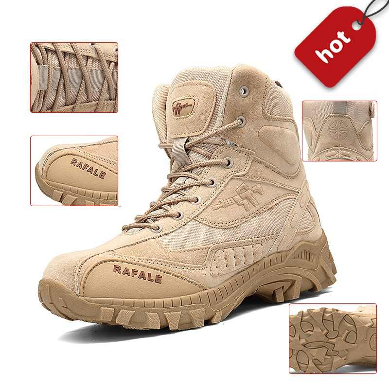 2018 Winter Military Boots Men Fashion Army Boots Men  s Tactical Desert  Combat High Top 03cad5506783