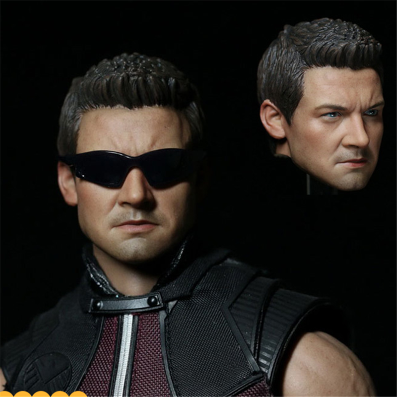 Mnotht Toy 1/6 Jeremy Rainer head sculpt Custom action figure Hawkeye Carved Head Model For HT Body Solider Model l30 mnotht head sculpt 1 6 solider head model mk42 mk43 iron man toni carved head for 12in figures toys and body l30
