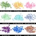 Metade Rodada Pérolas 6mm 5000 pçs/lote AB Cores Imitação Flatback Beads Para Jóias Fazendo Muitas Cores DIY Artesanato Decoração