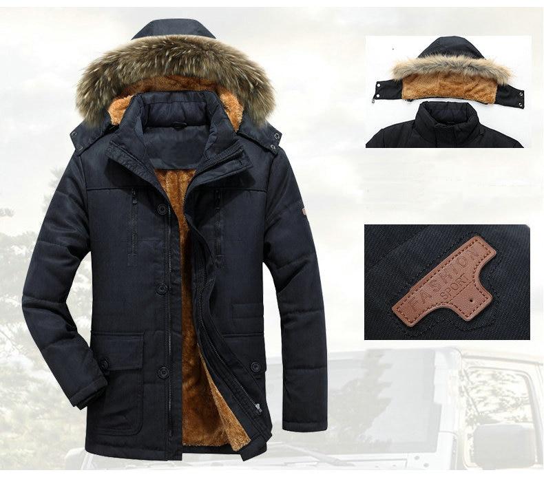 Thick Warm Parka Men New Hot Long Winter Jacket Men Hooded Military Cargo Mens Winter Coat Plus Size M-5XL 3