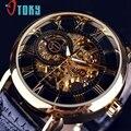 Excelente Qualidade de Luxo Esqueleto Dial Stainless Steel Band Mecânico Automático do Relógio de Pulso Das Mulheres Dos Homens Melhor Presente de Natal