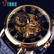 Excellent Quality Luxury Automatic Mechanical Skeleton Dial Stainless Steel Band Wrist Watch Men Women Best Gift Christmas