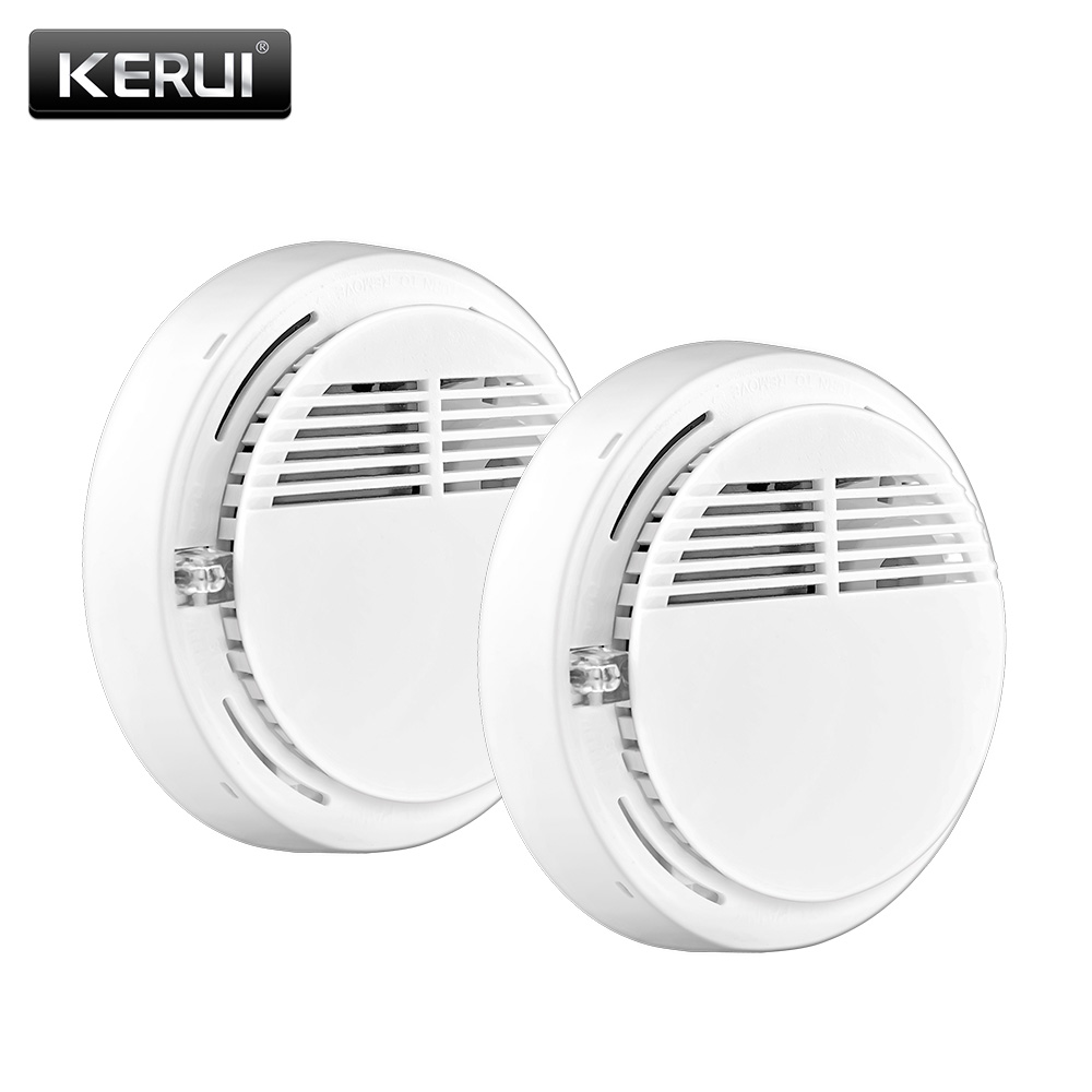 kerui wireless alarm security smoke fire detector sensor for all home house office gsm sms. Black Bedroom Furniture Sets. Home Design Ideas