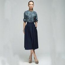 Dámské pohodlné volnější šaty se širokou sukní a polovičním rukávem