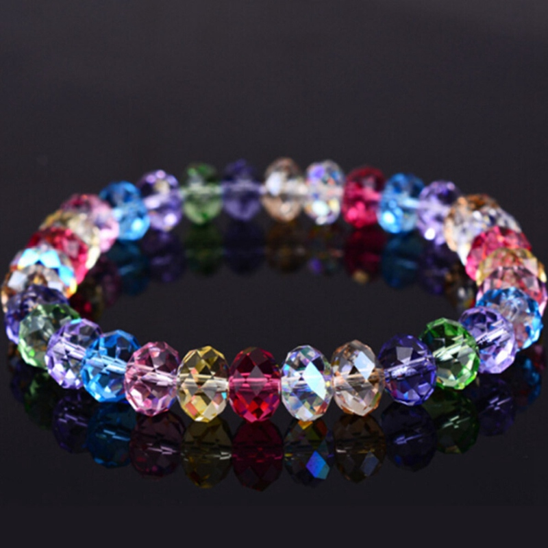 New Fashion Colorful Crystal Beaded Bracelets For Women Sweet Temperament Handwork Bracelets & Bangles Charms Jewelry