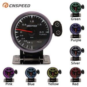 Image 1 - CNSPEED 60mm 7 Colors LED 12V BAR Turbo Boost Gauge Meter Sensor POD Universal For Honda Car Boost Turbo Meter Auto Gauge