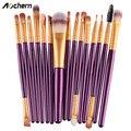 Aochern Professional 15 Pcs/Sets Eye Shadow Foundation Eyebrow Lip Brush Makeup Brushes Comestic Tool Make Up Eye Brushes Set