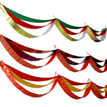 Colorful banner glitter paper bunting garland extraordinarily shining wedding decoration birthday party supplies