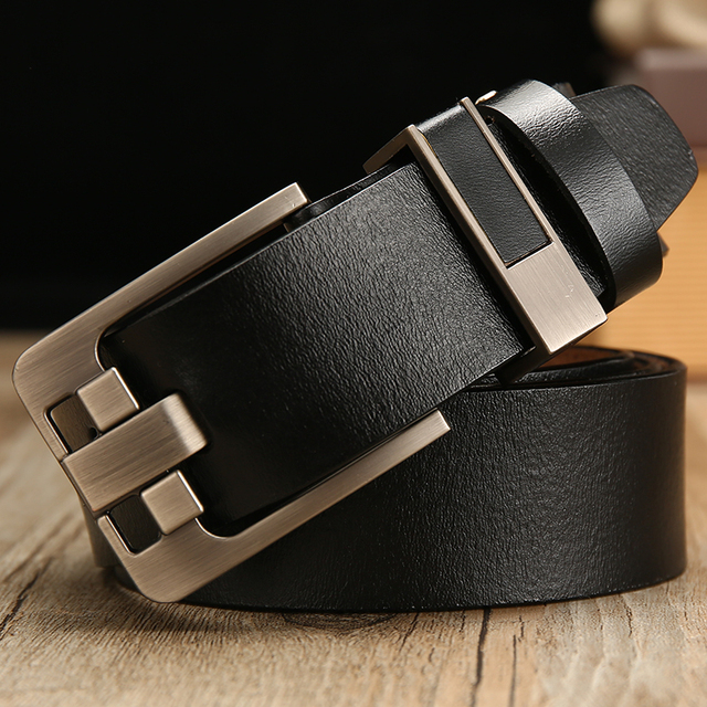 [LFMB]belt male leather belt men strap male genuine leather luxury pin buckle belts for men belt Cummerbunds ceinture homme 6