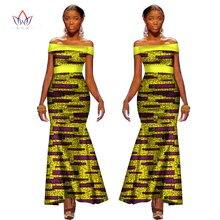 a4693734497 2017 Été Africain Robes pour Femmes Ankara Plaine Couleur Bandage Robe  Batik Cire Imprimer Off The