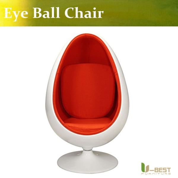 U-BEST Retro Eero Aarnio Eye Ball  Space Chair ,Rotable Egg chair and Swivel Chair